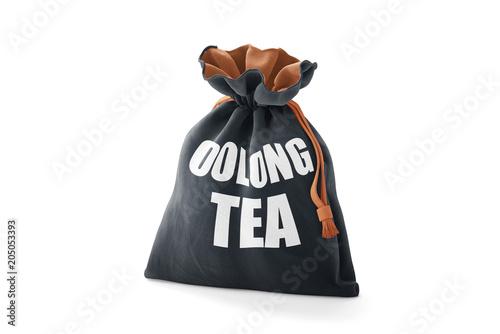Poch Pakował Oolong Herbaty na Odosobnionym Białym Tle