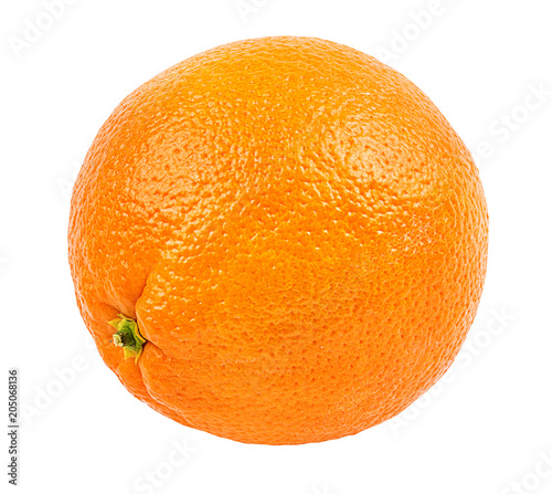 Juicy orange isolated on white background with clipping path