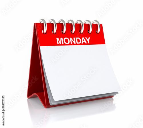 Monday Calendar Day