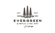 Line Art Evergreen / Pine tree Logo design inspiration