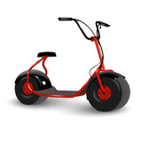 Realistic electric kick scooter. Two wheel electric vehicle. Vector illustration. - 205079592