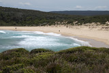 Bundeena Australia, landscape of Big Marley beach in the Royal National Park