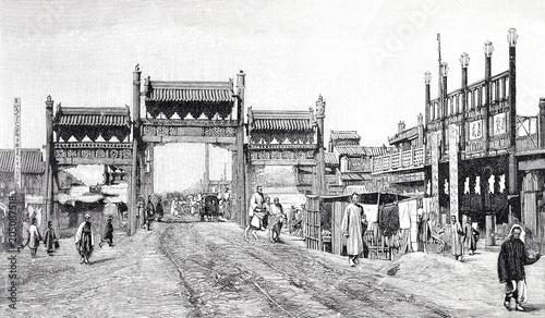 Fototapeta Straße in Peking