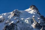Aiguille du Midi needle in winter morning light. Chamonix Mont Blanc, Haute-Savoie (Upper Savoy) - 205088368