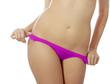 woman in sexy bottom underwear