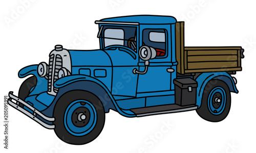 Fotobehang Auto The vintage blue lorry