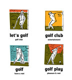 Golf club logo icons set. - 205101336