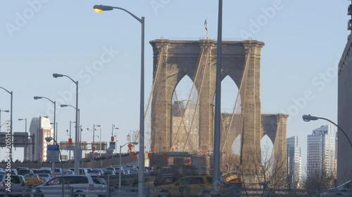 Wide, Brooklyn Bridge in New York City