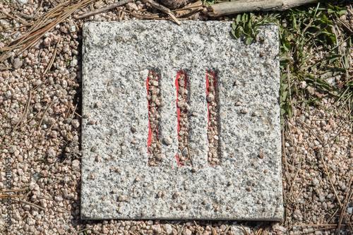 Canvas Stenen Números romanos en piedras