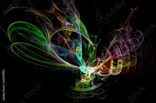 Fototapeta Fractal image: fancy pattern.