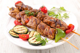 grilled beef and zucchini barbecue - 205123104
