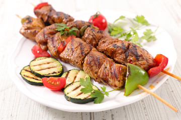 grilled beef and zucchini barbecue