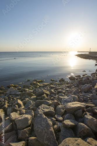 Aluminium Zee zonsondergang Zatoka Gdanska