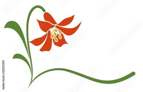 Fototapeta Logo red flower.