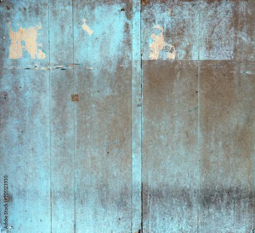 Plexiglas Konrad B. Grungy wooden building, old ragged planks