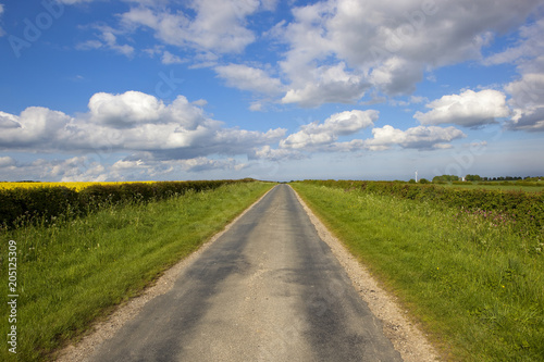 Wall mural Yorkshire wolds road in Springtime