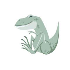 Green smiling Tyrannosaurus Rex