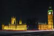 Westminster Strasse Nacht Stimmung  Uhr Big ben