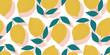 vector seamless lemon pattern, summer fruit design