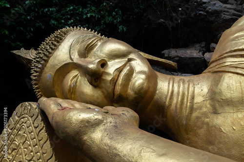 Canvas Boeddha Reclining Buddha in Luang Prabang Laos