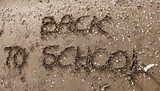 Back to School big text  with sepia toned effect