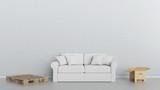 Möbel Lieferung Konzept mit Sofa und Umzugskartons - 205200173