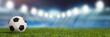 Leinwanddruck Bild - Panorama Hintergrund mit Fußball Stadion