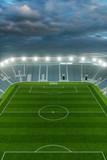 Ansicht Fußball Stadion aus der Höhe mit Himmel - 205200321