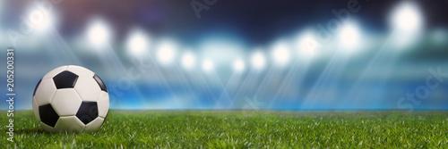 Panorama tło z stadionu piłkarskiego