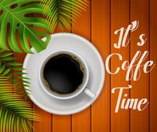 Coffee Time  Illustration Sticker