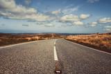 Nature Highway Landscape Background