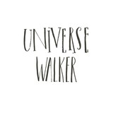 Hand drawn vector abstract graphic creative modern handwritten calligraphy lettering phase Universe walker isolated on white background - 205215743
