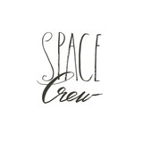 Hand drawn vector abstract graphic creative modern handwritten calligraphy lettering phase Space Crew isolated on white background - 205215756