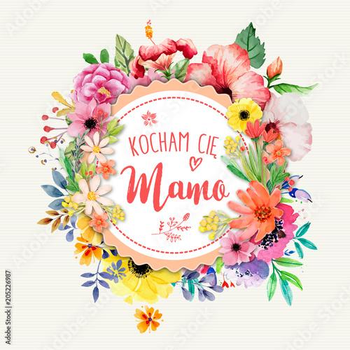 Poster Dzień Matki 26 Maja - kartka z napisem