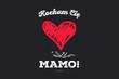 """Dzień Matki 26 Maja - malowane czerwone serce z napisem """"Kocham Cię Mamo!"""""""