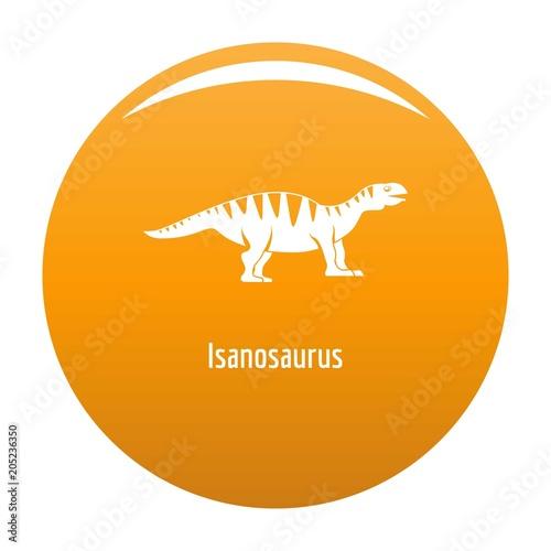 Isanosaurus icon. Simple illustration of isanosaurus vector icon for any design orange