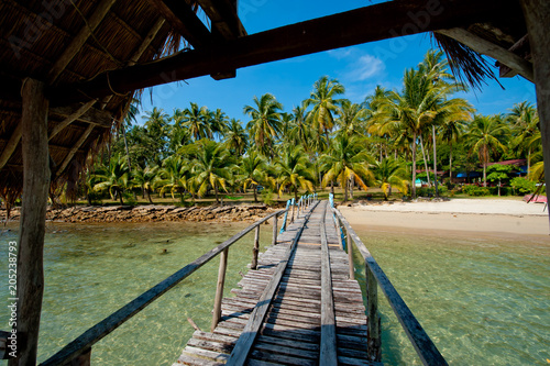 Plexiglas Thailand A wooden pier on the island of Koh Chang, Thailand.