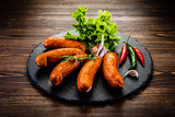 Raw sausages with and vegetables - 205241927