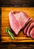 Raw pork on cutting board - 205242711