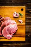Raw pork on cutting board - 205242741