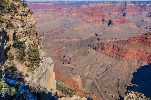 Canvas Arizona Grand Canyon South Rim Scenic Landscape