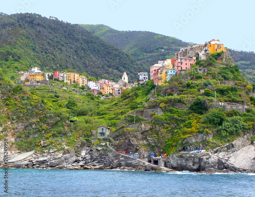 Fotobehang Toscane City on the Ligurian coast in the Tuscany region of Italy.