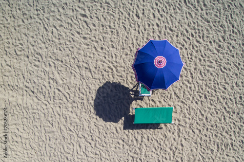 Fotobehang Toscane Forte dei Marmi, ombrellone e spiaggia
