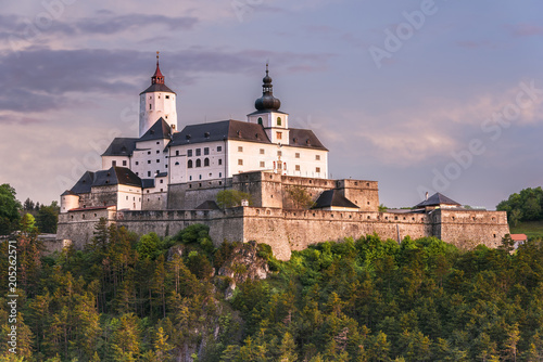 Spring sunrise impression of Castle Forchtenstein (Burgenland, Austria))