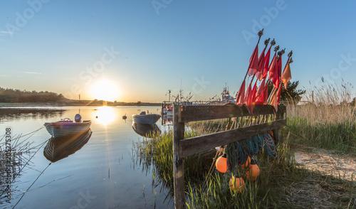 Foto Murales Fischerboote im hafen