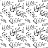 Floral seamless pattern with branches. Vector illustration. - 205275575