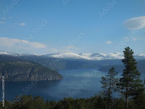 Fotobehang Blauwe jeans Innvikfjord