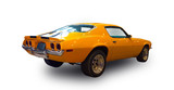 American muscle car. White background