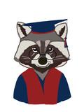 raccoon half human body