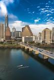 MARCH 2, 2018, AUSTIN, TEXAS - Austin Cityscape Evening Skyline with skyscrapers down Congress Avenue Bridge over Colorado River - 205289514